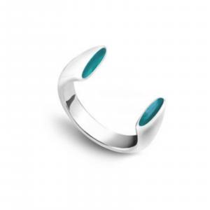 Серебряное кольцо с эмалью - Срібна каблучка з емаллю