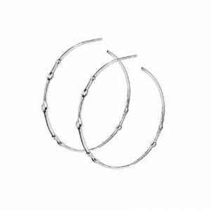 Серебряные серьги круглые - Сережки круглі срібні