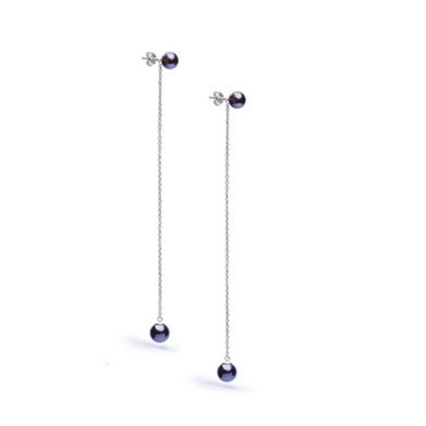 Серьги с жемчугом серебро - Сережки з перлами срібло