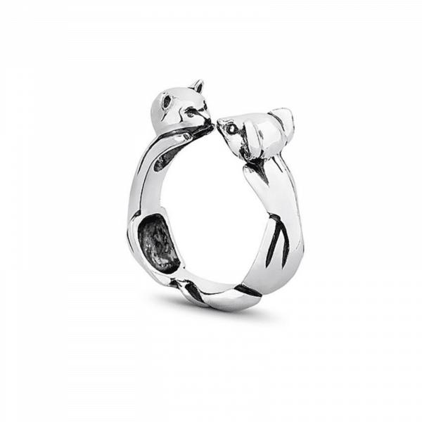 Серебряное кольцо с котом - Срібна каблучка з котом