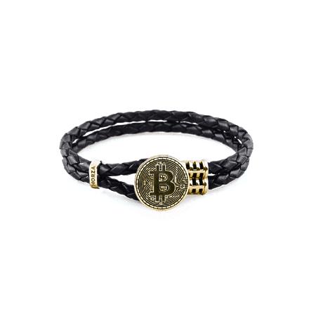браслет из натуральной кожи и золота - браслети зі шкіри та золота