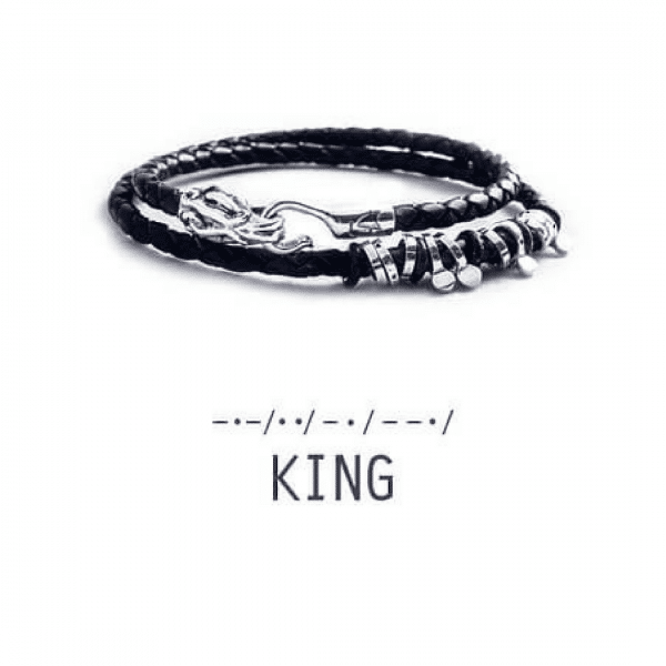Купить кожаный браслет с серебром - Купити шкіряний браслет зі сріблом