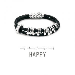 Кожаный браслет с серебром - Шкіряний браслет зі сріблом