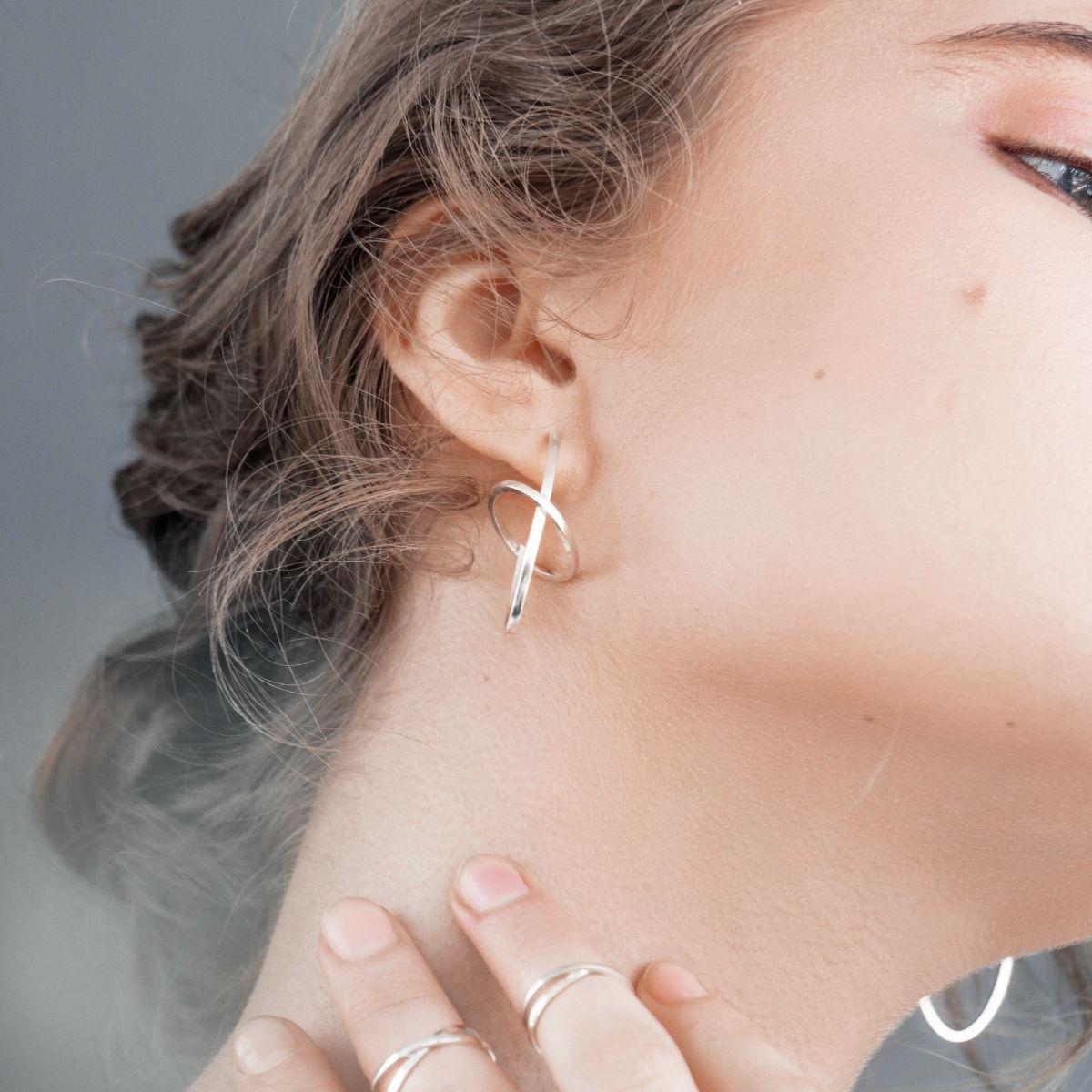 Серебряные серьги дизайнерские