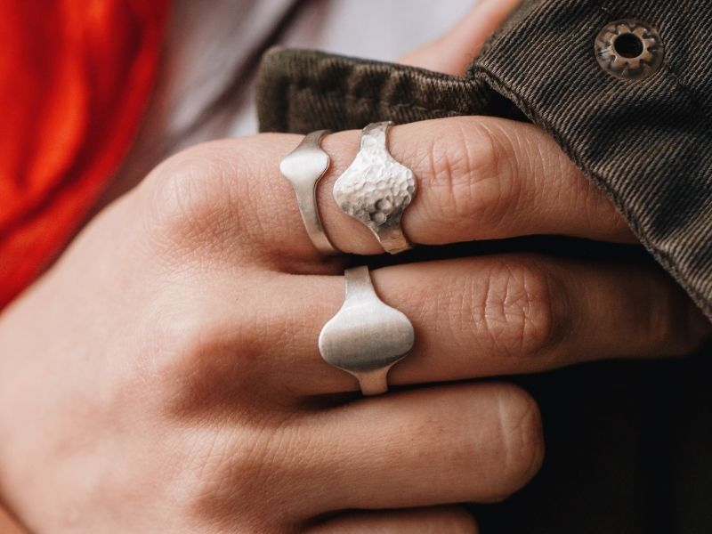 Серебряные кольца дизайн Лена Ястреб