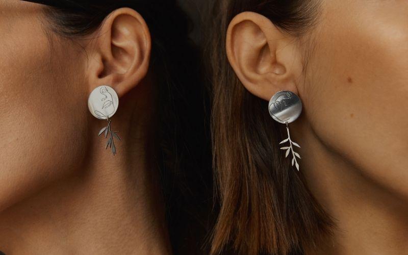 Серебряные серьги дизайн Лена Ястреб