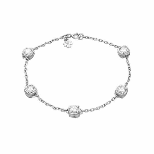 Стильный серебряный браслет с кулоном фото