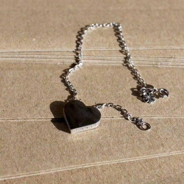 серебряный браслет с подвеской фото