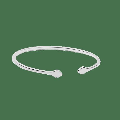 тонкий браслет из серебра для женщин фото