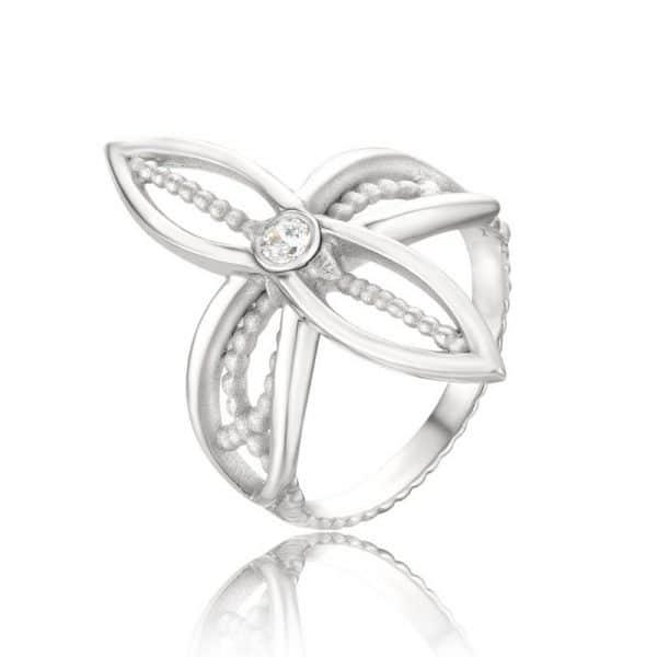 Ажурное кольцо «Цветок» фото