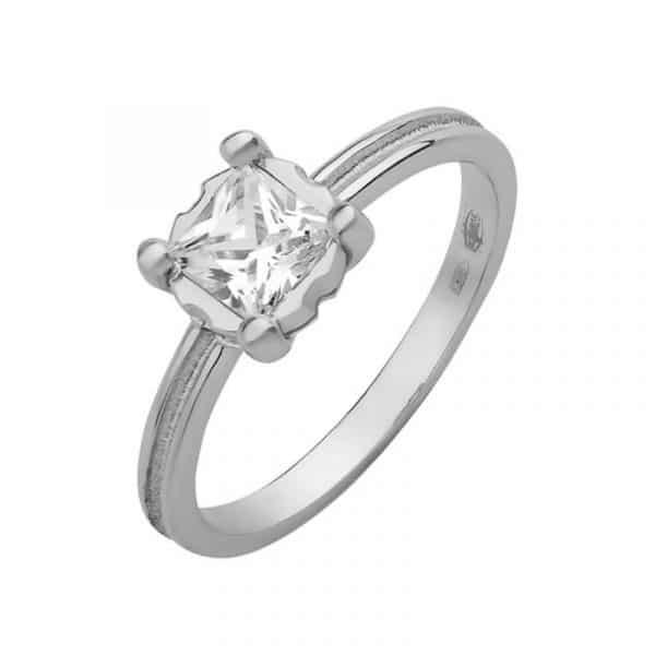 стильное женское серебряное кольцо фото