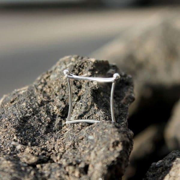 Кольцо из серебра «Пара» фото