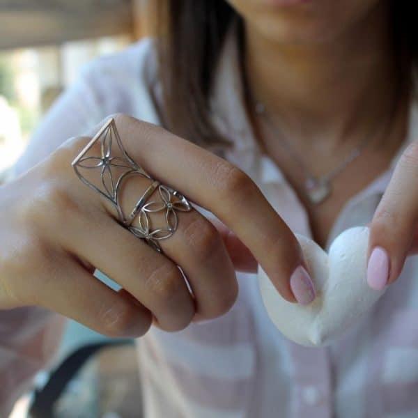 Серебряное кольцо «Кайт» фото