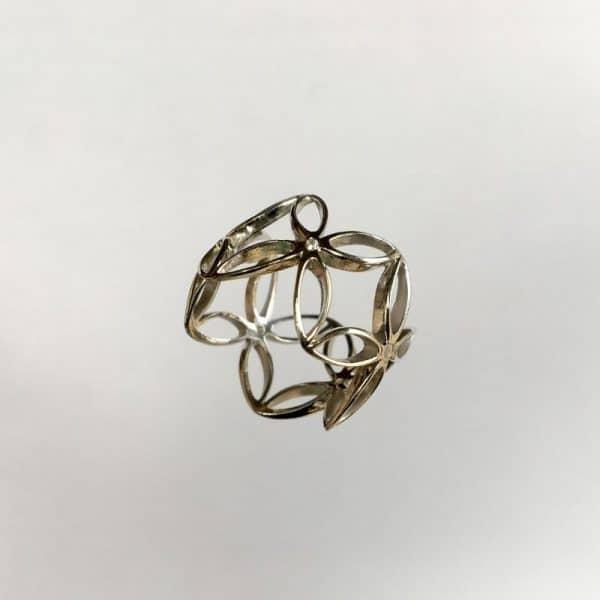 Серебряное кольцо «Pattern» фото