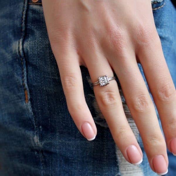 Серебряное кольцо «Принцесса» фото
