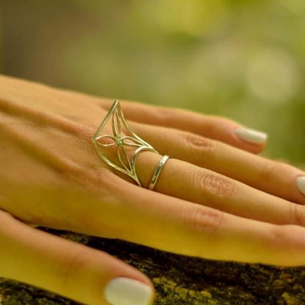 Срібний перстень «Кайт» фото