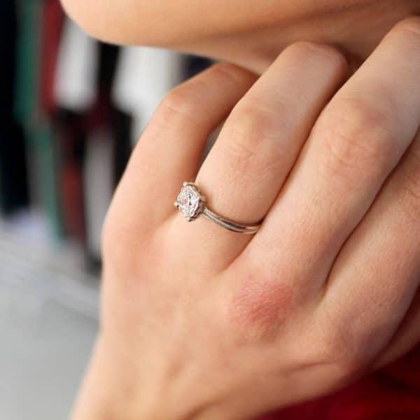 Срібний перстень «Принцеса» фото
