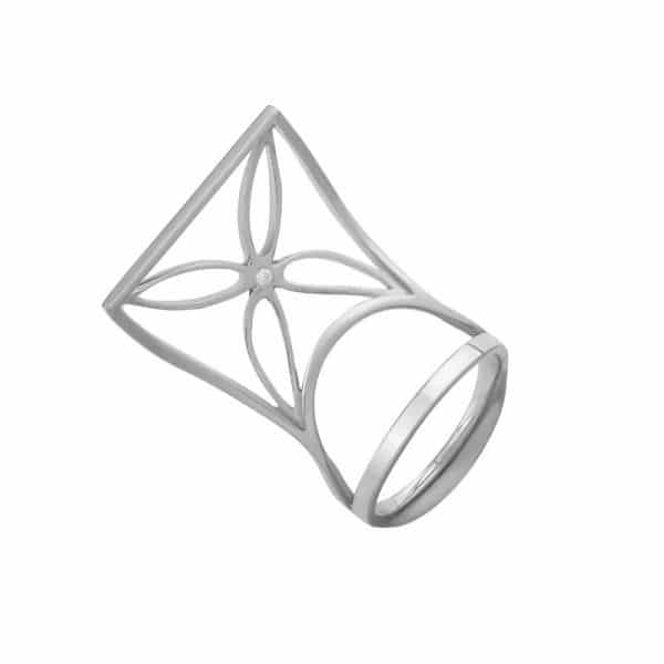 дизайнерское серебряное кольцо фото