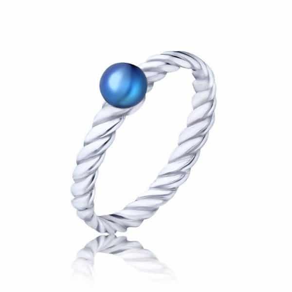 молодежное кольцо из серебра фото
